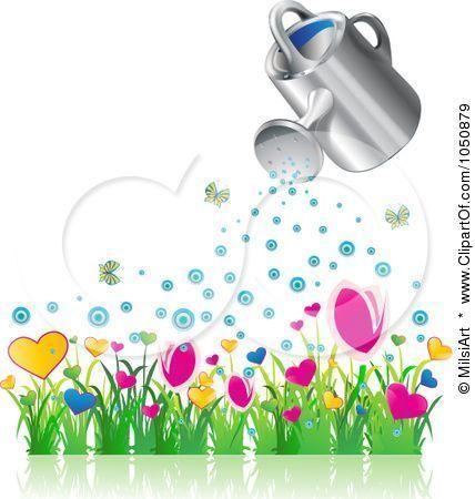 ... RF-Clip-Art-Illustration-Of-A-3d-Watering-Can-Over-A-Flower-Garden.jpg: mamietitine.centerblog.net/23383-jardin-enchante