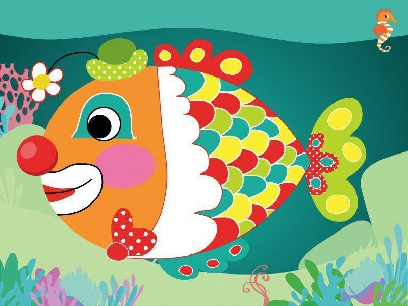 Poisson d 39 avril - Poisson dessin couleur ...