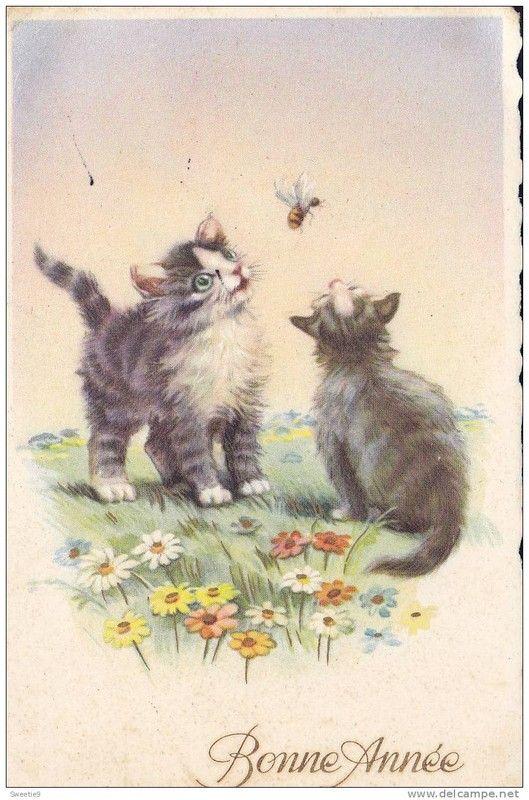 Anciennes cartes de Bonne Année 401d8c65