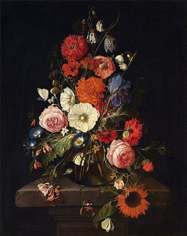 cadre vase avec des fleurs