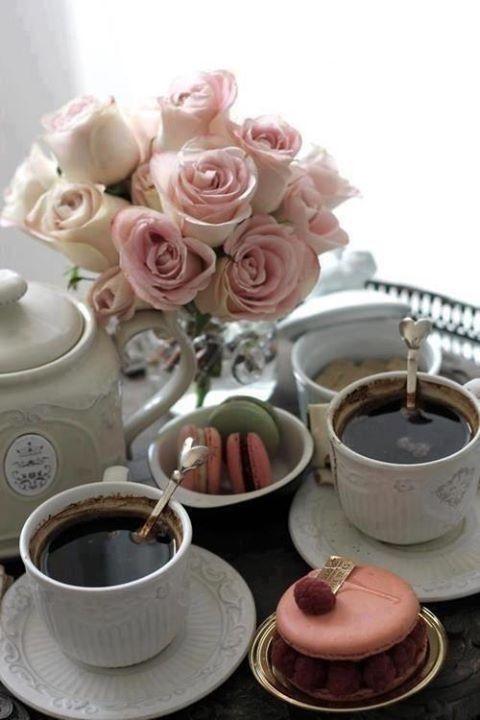 l'heure du café ou thé....