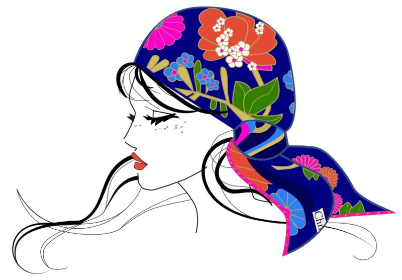 Bonjour tout le monde - Page 4 Dessin-femme-foulard1