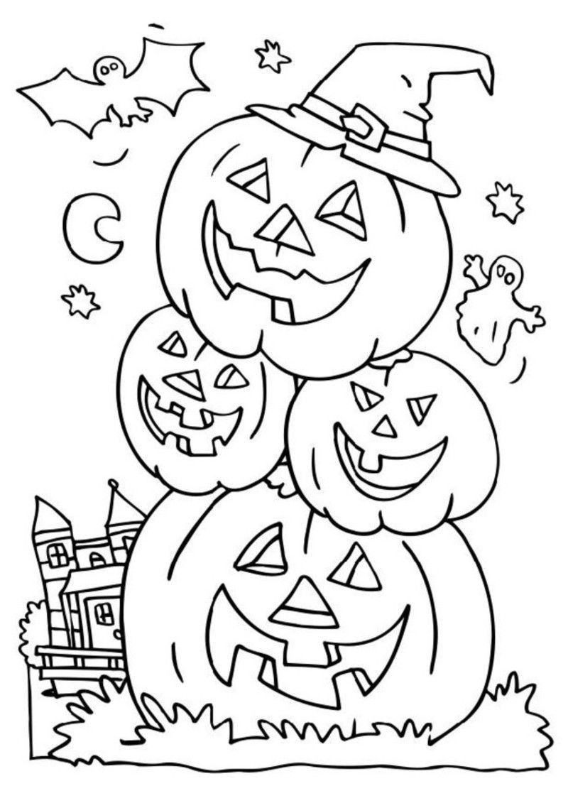 Coloring activities for seniors - Halloween Coloring Pages For Seniors 1jpg