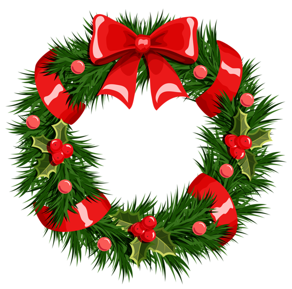 Christmas Wreath Clip Art Christmas Wreath Graphic 1 Gif Pictures to ...