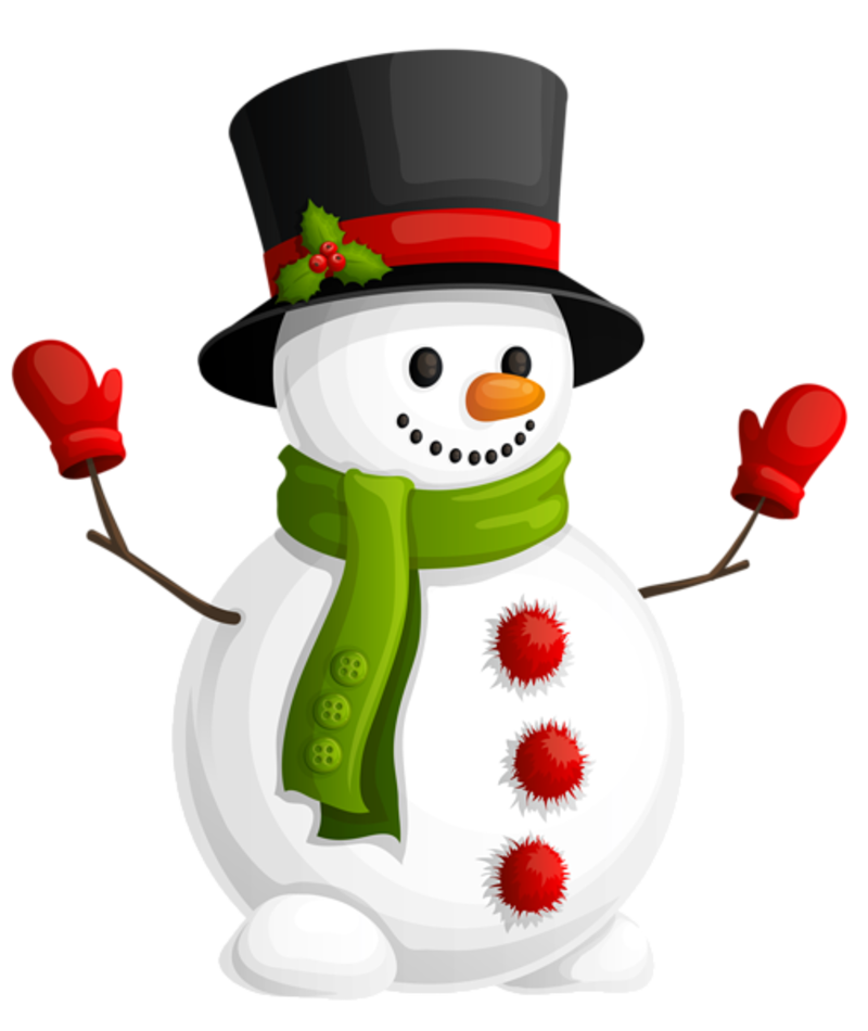 Fete noel bonhomme de neige - Clipart bonhomme de neige ...