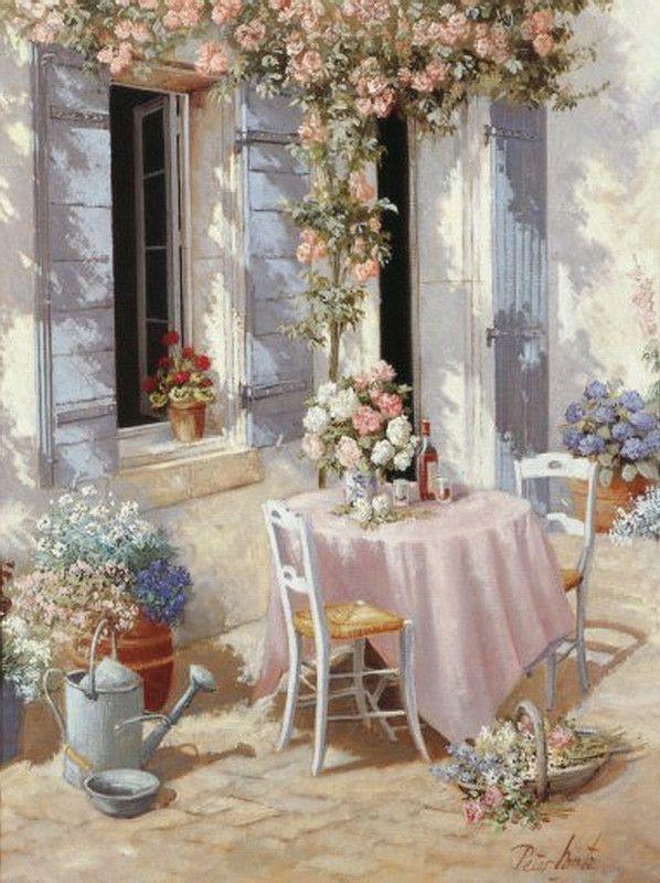 maison en fleur
