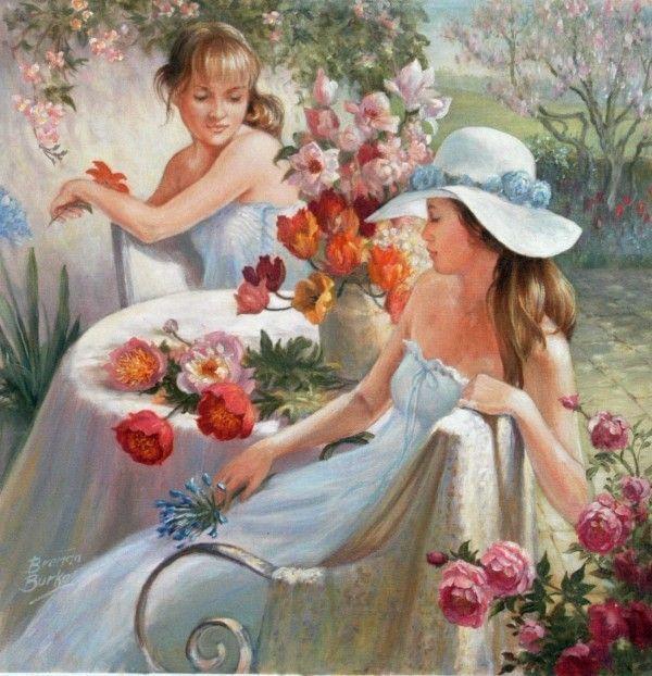 Картины цветы на черном фоне