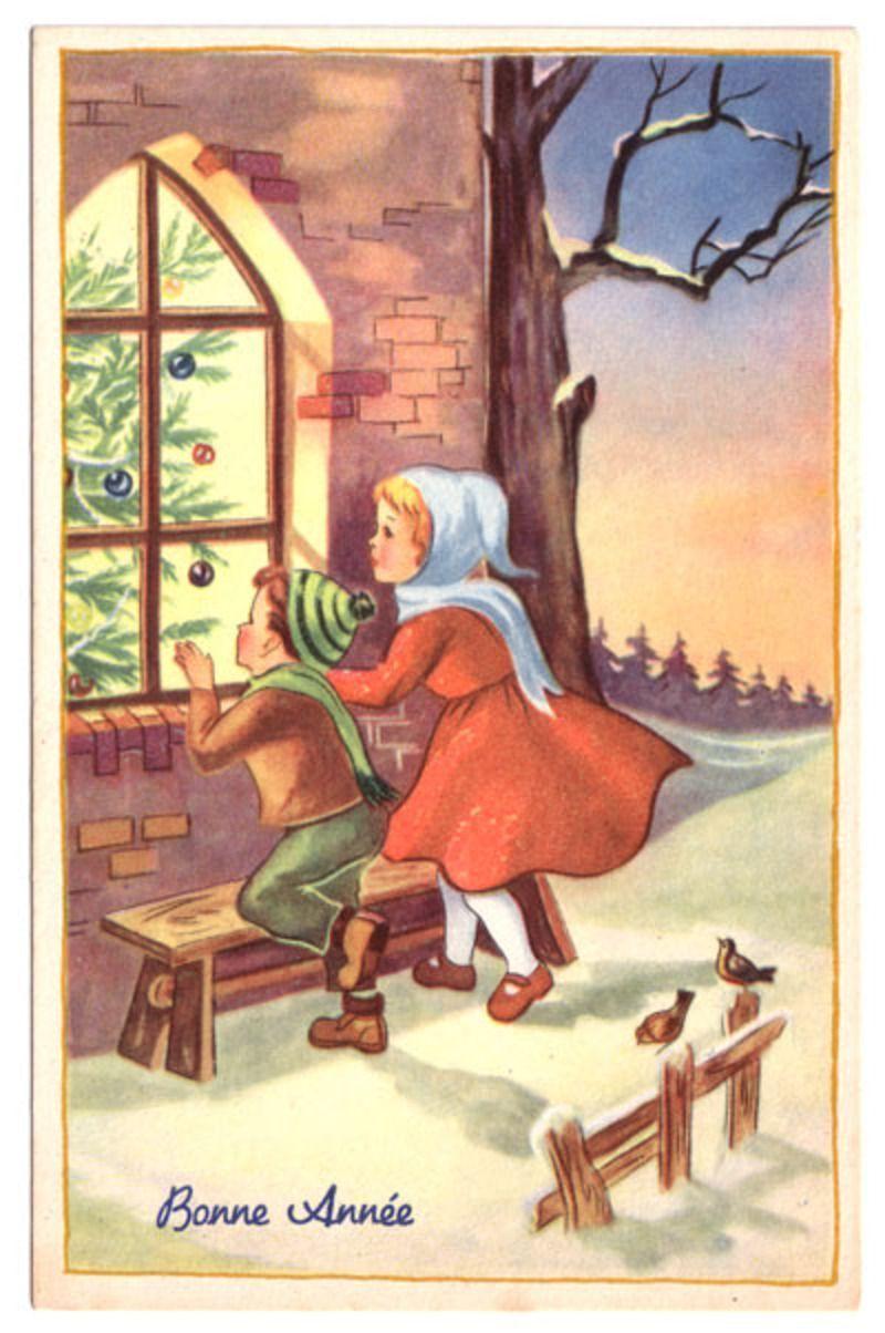 Anciennes cartes de Bonne Année - Page 2 BonAnnee-vintage-postcards