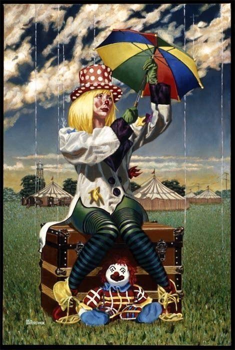 """Схема вышивки  """"Грустный клоун """": комментарии."""