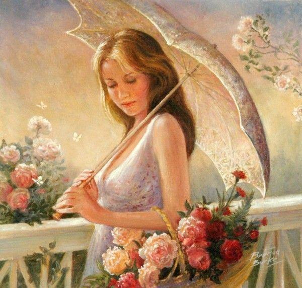 la femme aux roses