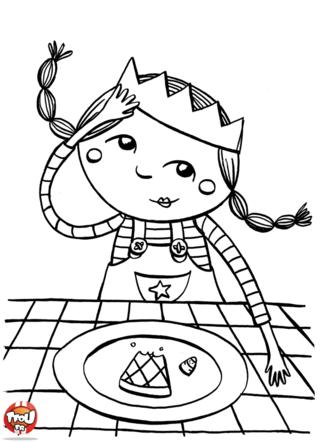 Pour nous les enfants coloriage - Coloriage galette ...