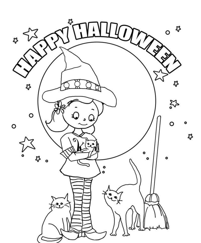 Pour nous les enfants coloriage for Preschool halloween coloring pages