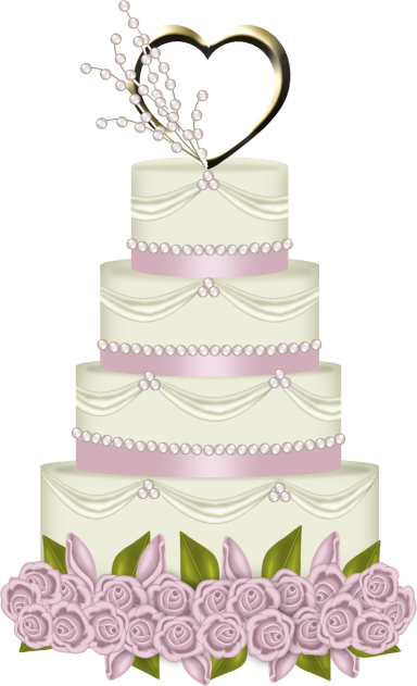 Pin transparent wedding cake looping animated background