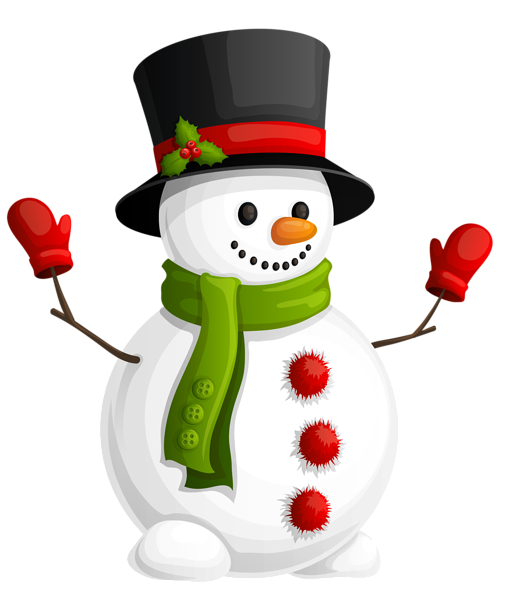 Pics Photos - Snowman With Green Scarf Png Clipart Picture Png M ...