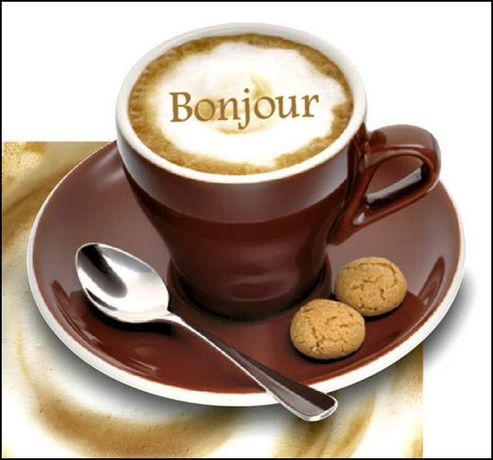 Photo Bonjour Tasse De Cafe