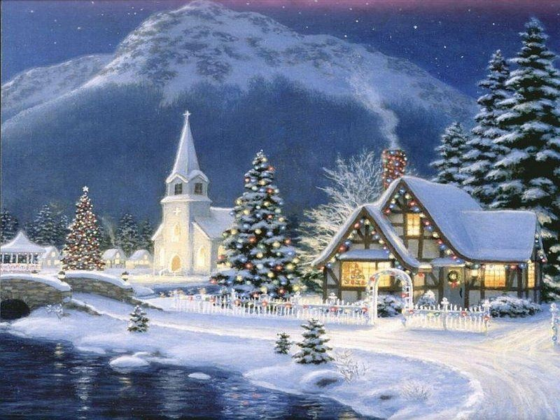 wallpapers noel paysage christmas - photo #6