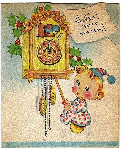 Anciennes cartes de Bonne Année - Page 2 Vintage-newyear-10